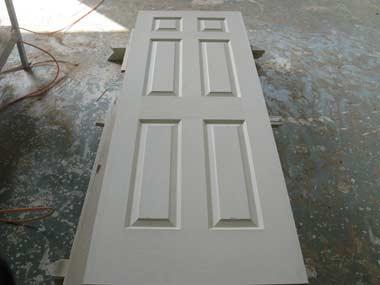 White painted door slabs