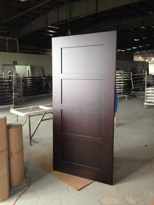 Customized Door Design with Narrow Middle Rail, Espresso Dark Stained and Painting