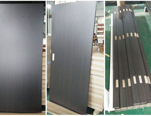 HPL flush panel wood door for Hotel Project in United States (Plastic laminate door)