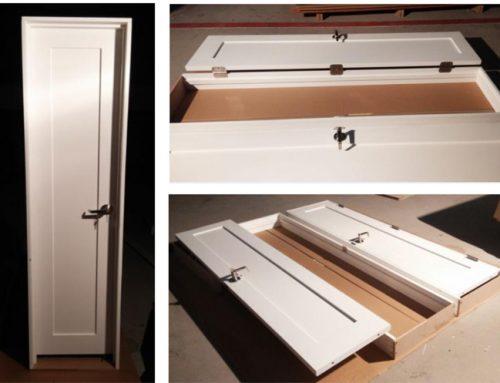 Prehung white closet door