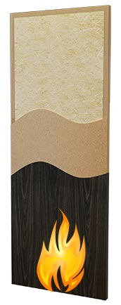 Particleboard Core Fire Rated Wood Doors
