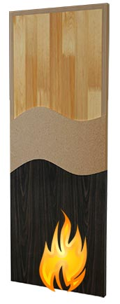 Stave Lumber Core Fire Rated Wood Doors