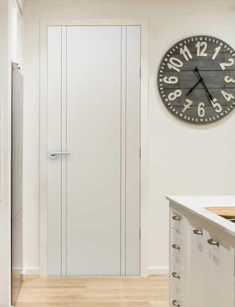 Paint grade flush interior doors forest bright wood doors for Flush interior wood doors