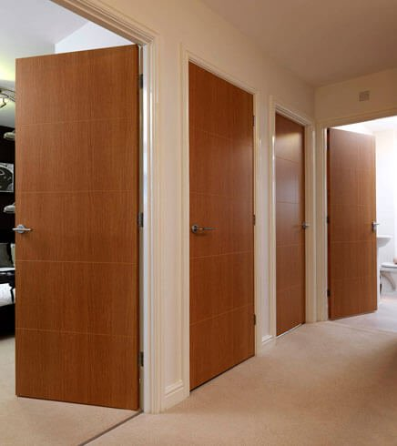 Ply veneer flush door