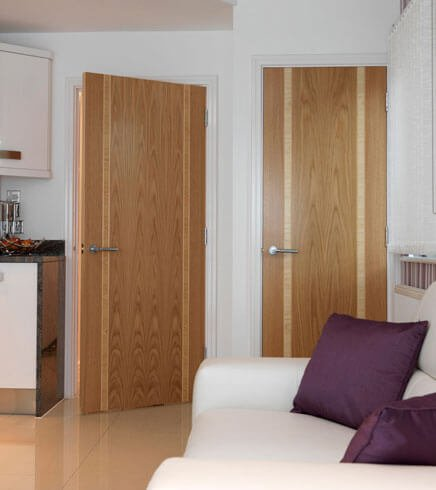 Stain Grade Veneer Flush Door & Stain Grade Veneer Flush Door - Forest Bright Wood Doors