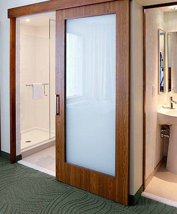Springhill Suites Hotel Slide Bathroom Doors With Obscure Glass Insert : springhill doors - pezcame.com