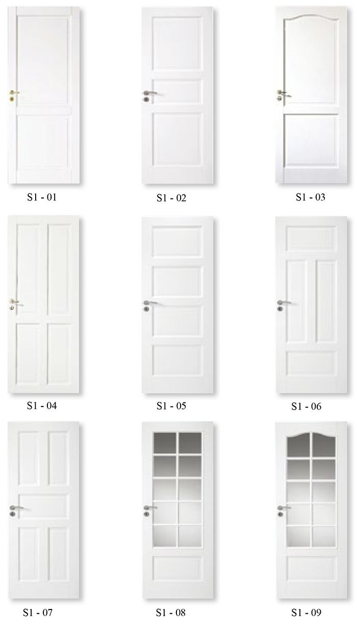 2 Panel Interior Bathroom Molded Solid Wood White Doors