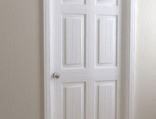 6 Panel Solid Wood Interior Doors White Paniting Interior Wooden Door