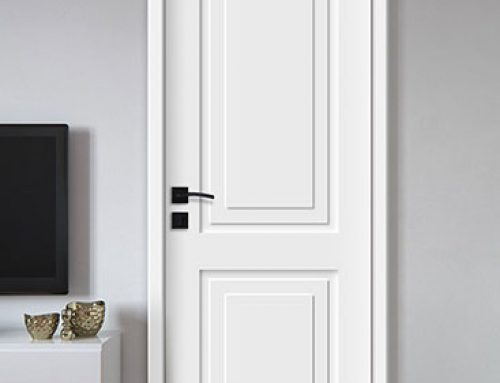 Fire rated painted flush door for grand hotel guestroom entry (BS476-30 minutes)