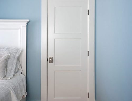 Shaker 3-Panel Wood Solid Core White MDF Single Prehung Interior Door