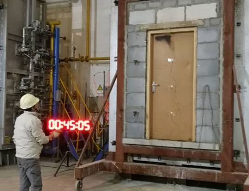 We passed the STC 39dB, 45-min fire rated wooden door test!