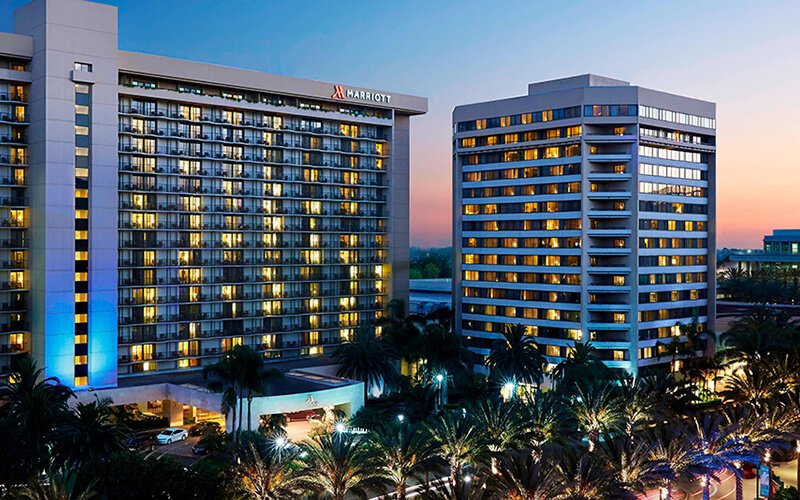 Provided 970 sets of sliding glass doors for Marriott Anhaim