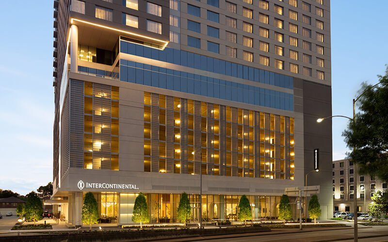 provides all hotel entry doors, sliding barn doors and closet doors for InterContinental hotel